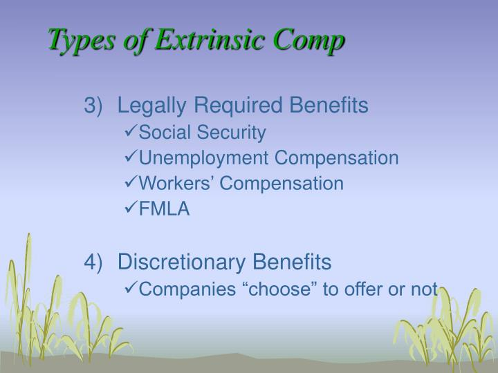 Types of Extrinsic Comp