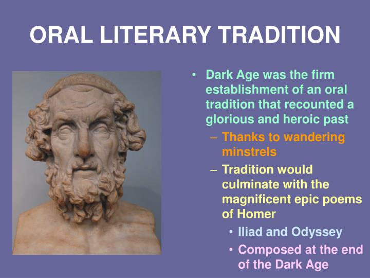 ORAL LITERARY TRADITION