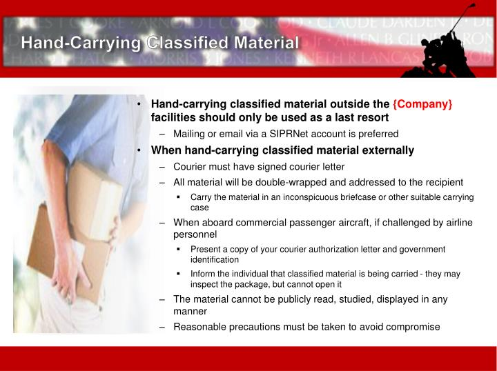 Hand-Carrying Classified Material