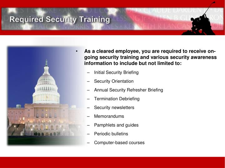 Required Security Training