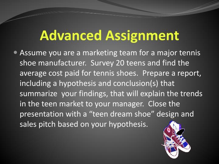 Advanced Assignment