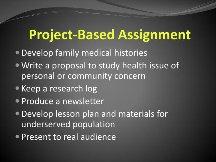 Project-Based Assignment