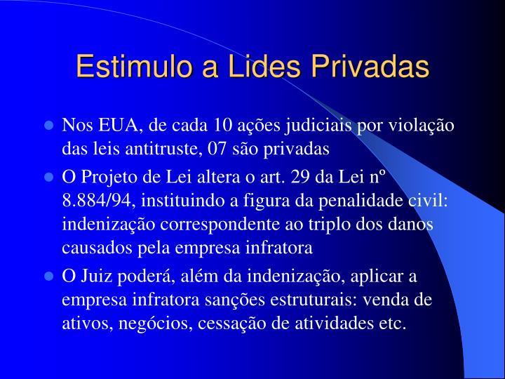Estimulo a Lides Privadas
