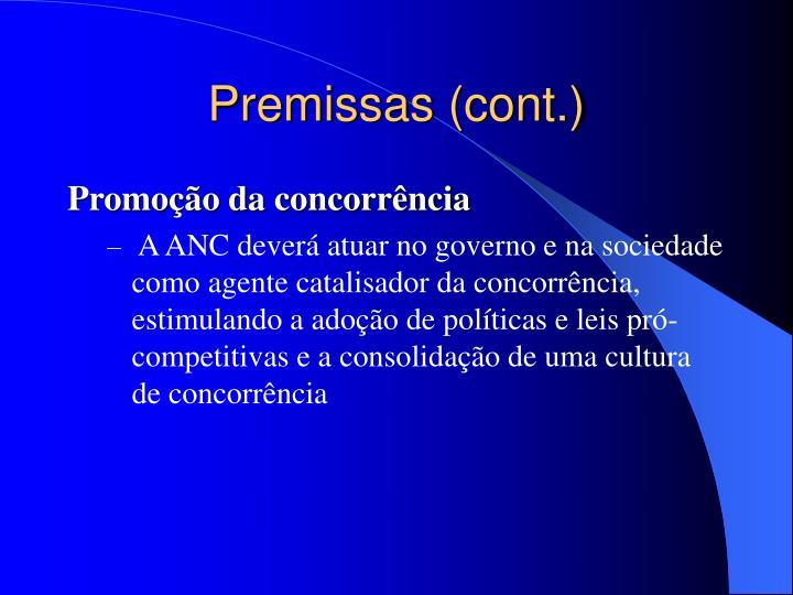 Premissas (cont.)