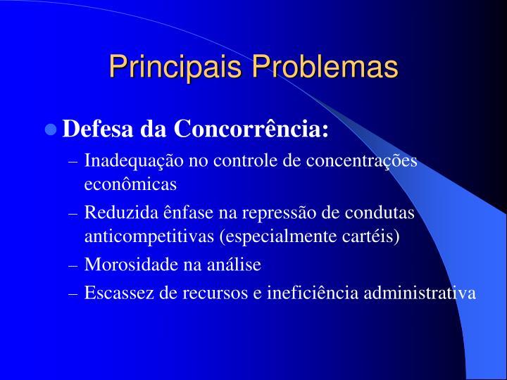 Principais Problemas