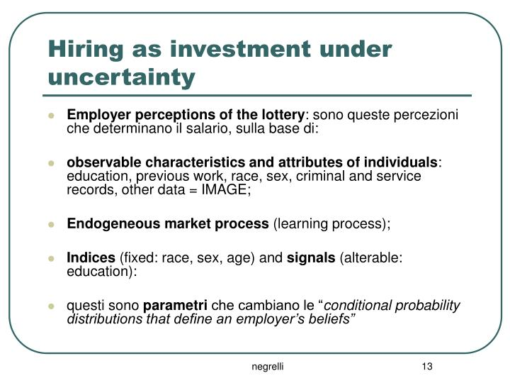 Hiring as investment under uncertainty