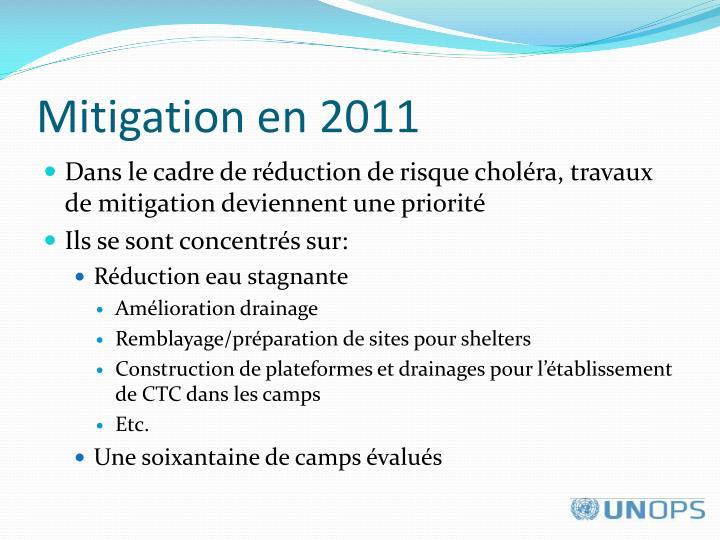 Mitigation en 2011