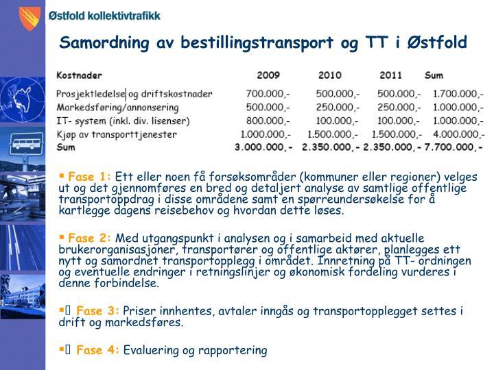Samordning av bestillingstransport og TT i Østfold