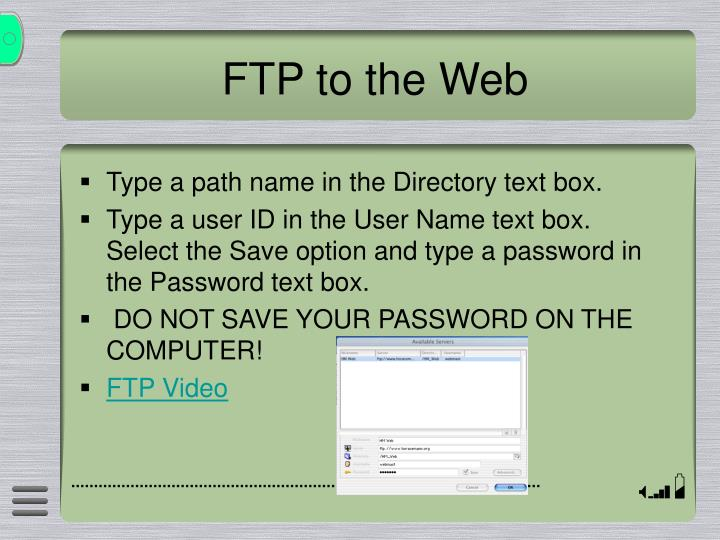 FTP to the Web