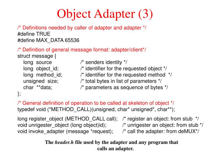 Object Adapter (3)