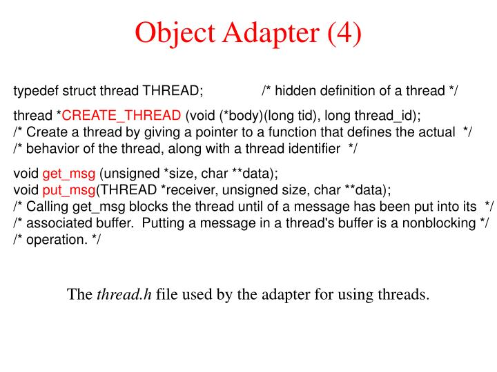 Object Adapter (4)