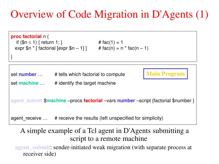 Overview of Code Migration in D'Agents (1)