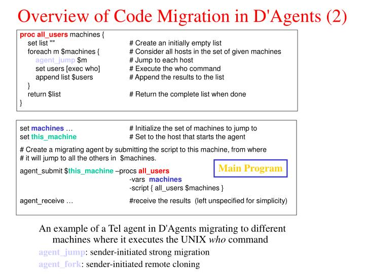 Overview of Code Migration in D'Agents (2)