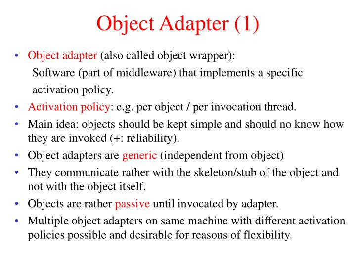 Object Adapter (1)