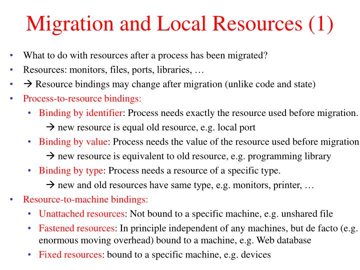 Migration and Local Resources (1)