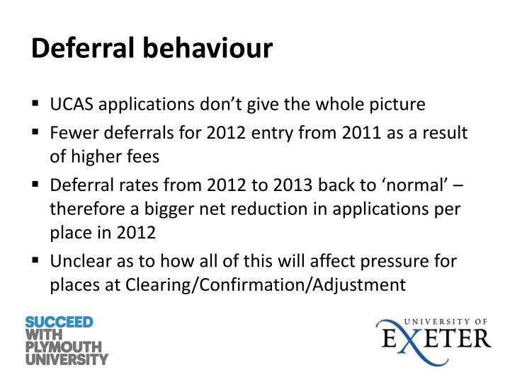 Deferral behaviour
