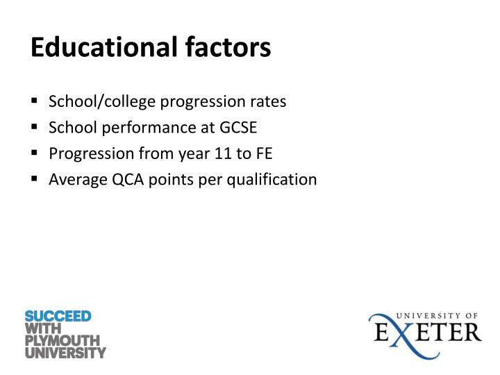 Educational factors