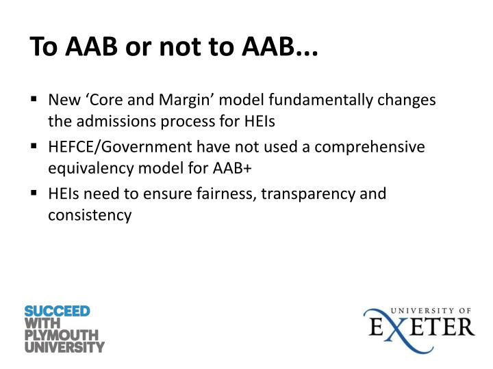 To AAB or not to AAB...