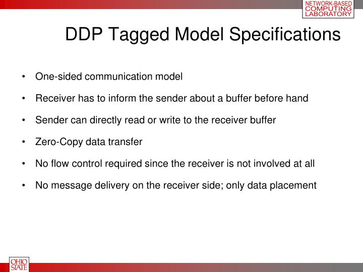DDP Tagged Model Specifications