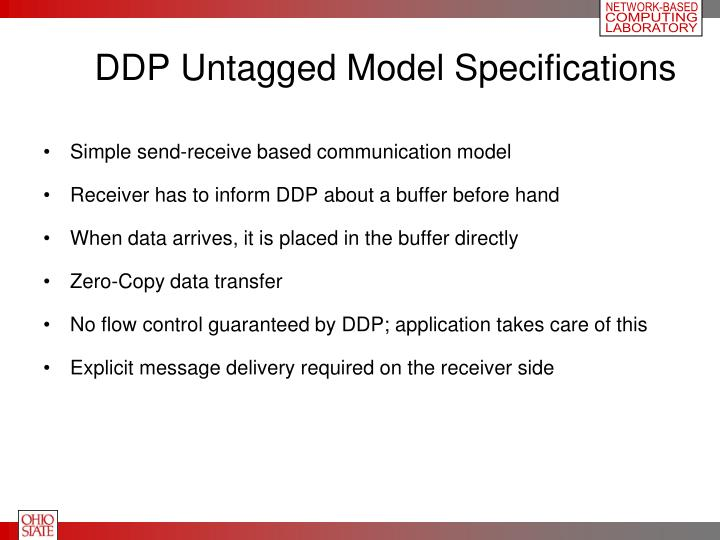 DDP Untagged Model Specifications