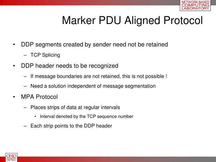 Marker PDU Aligned Protocol