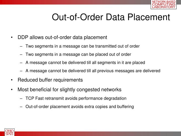 Out-of-Order Data Placement