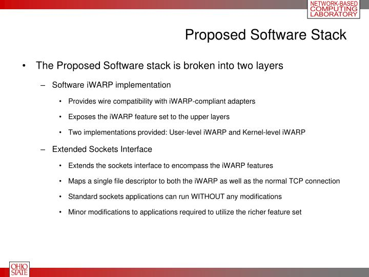 Proposed Software Stack