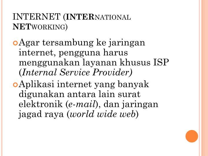 INTERNET (