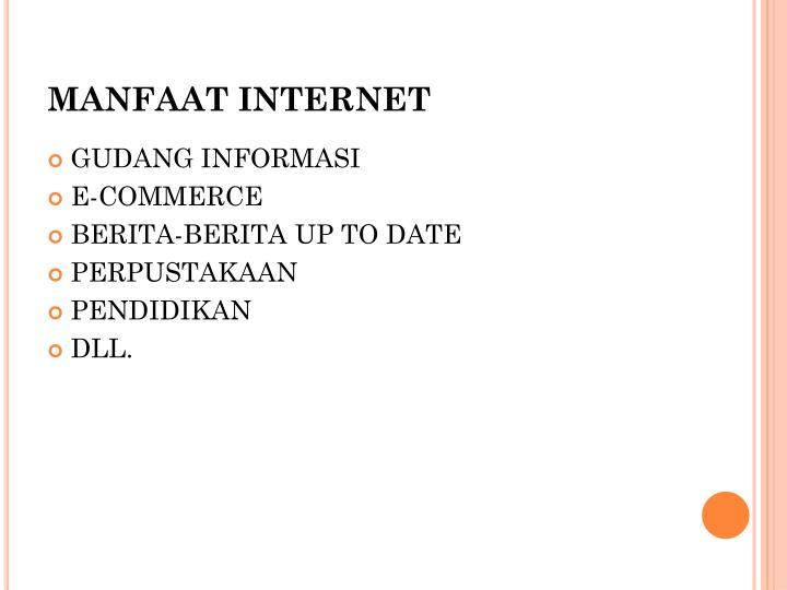 MANFAAT INTERNET