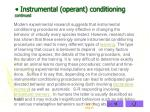 instrumental operant conditioning continued1
