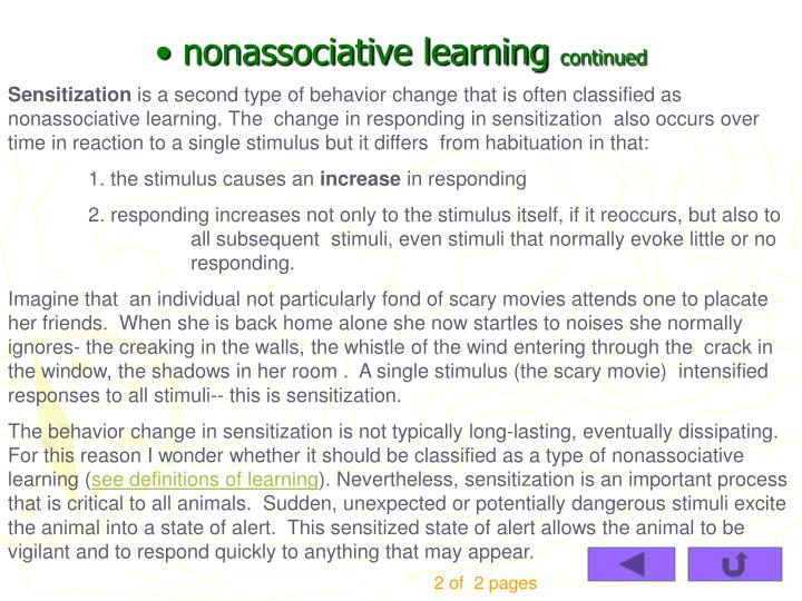 nonassociative learning