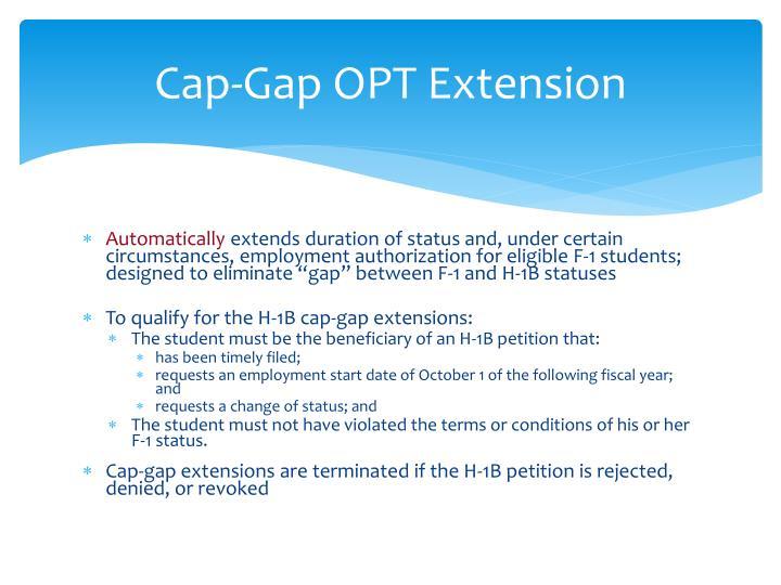 Cap-Gap OPT Extension