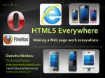 html 5 everywhere