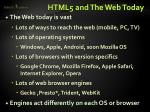 html5 and the web today1