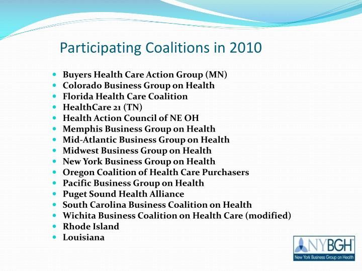 Participating Coalitions in 2010