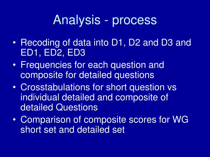 Analysis - process