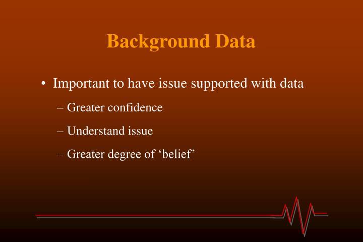 Background Data