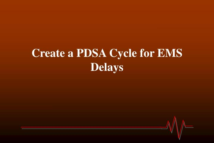 Create a PDSA Cycle for EMS Delays