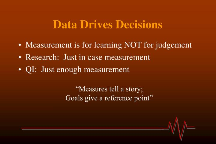 Data Drives Decisions