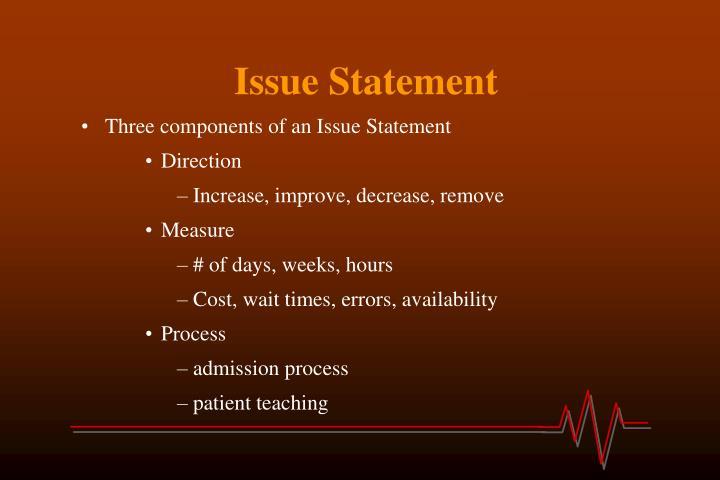 Issue Statement