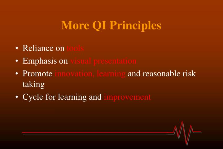 More QI Principles