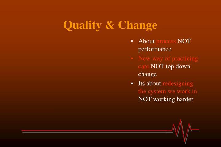 Quality & Change