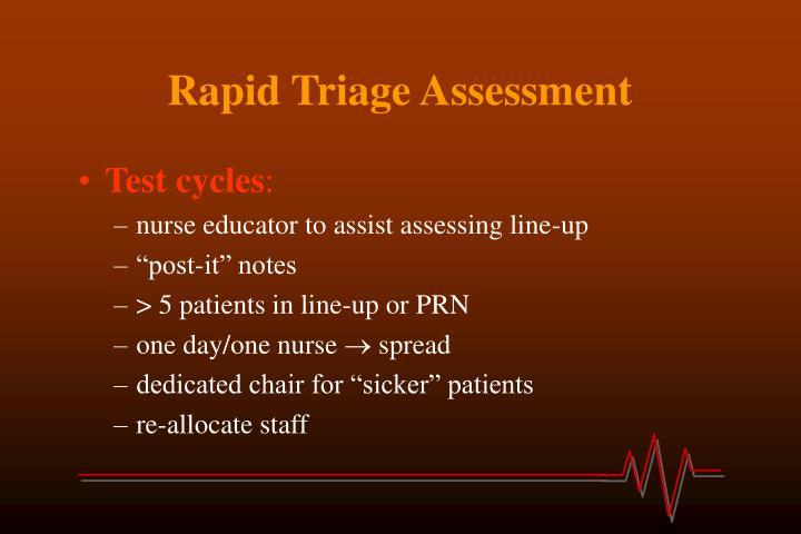 Rapid Triage Assessment