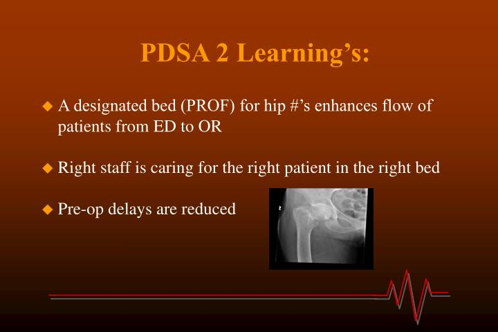 PDSA 2 Learning's: