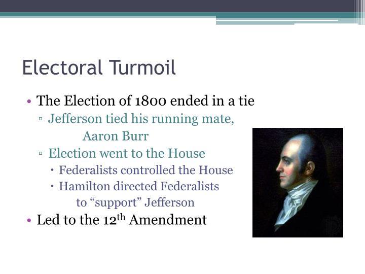 Electoral Turmoil