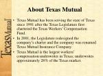 about texas mutual