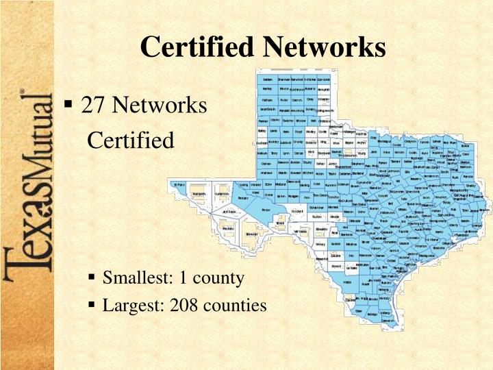 Certified Networks