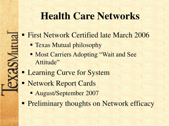 Health Care Networks