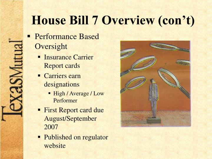 House Bill 7 Overview (con't)
