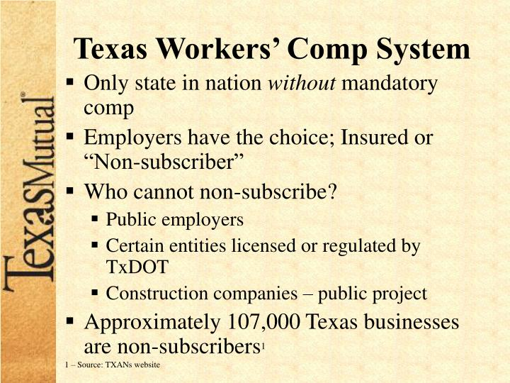 Texas Workers' Comp System